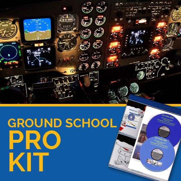 CFI ground school pro kit and flight instructor materials